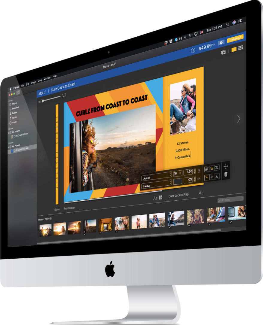 Mac with Motif app open