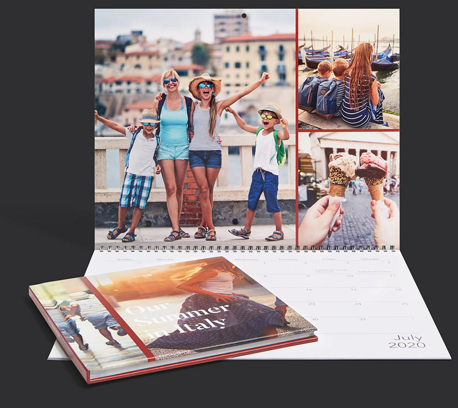personalised calendar of holiday to italy