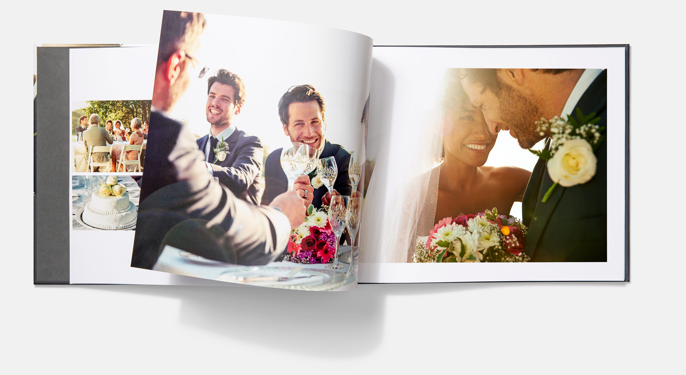 customised wedding photo book