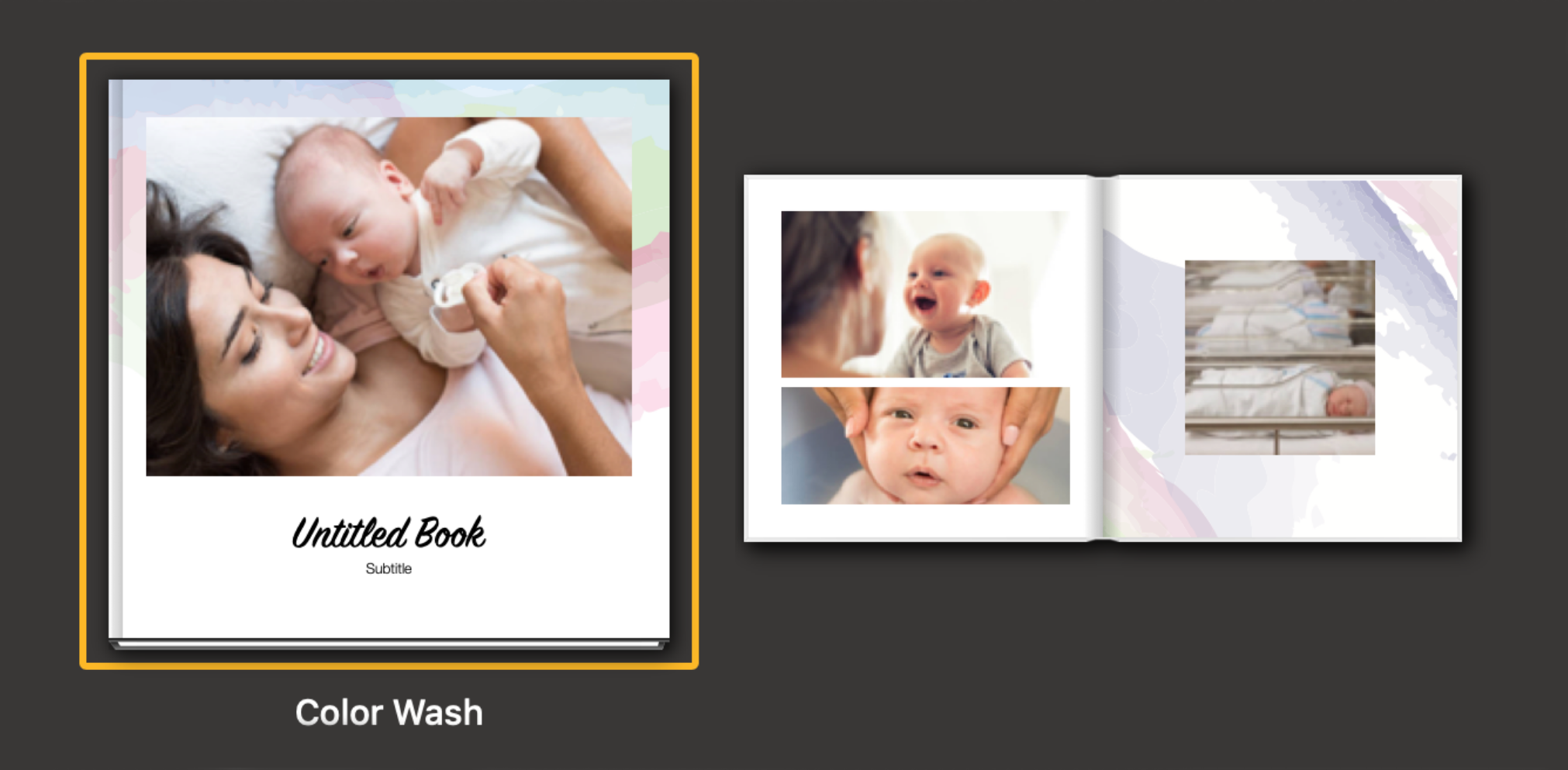 colour wash photobook theme