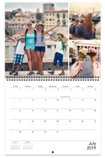 customised family photo calendar