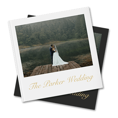 Wedding photo books created with Motif's Apple photo book application