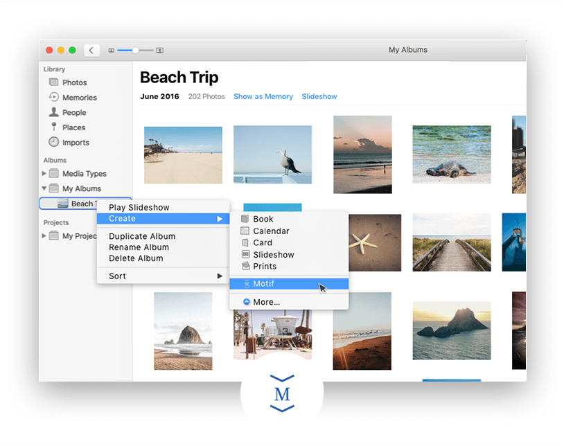 Creating an Apple Photo Book with Motif